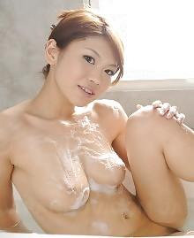 Soaped Japanese babe