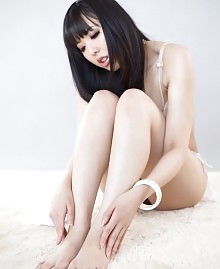 Sexy black haired Asian girl